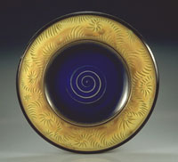 yelloe carved platter